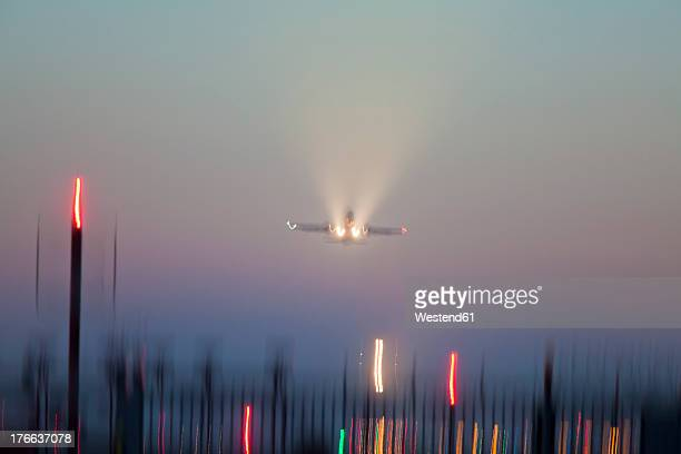 Germany, Baden Wuerttemberg, Stuttgart, Aeroplane flying against sky