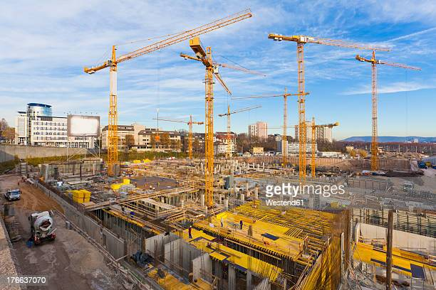 Germany, Baden Wuerttemberg, Stuttgart, Building under construction