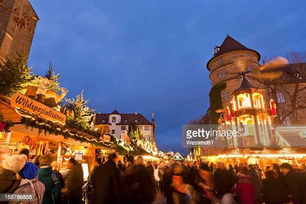Germany, Baden Wuerttemberg, Stuttgart, People at christmas market
