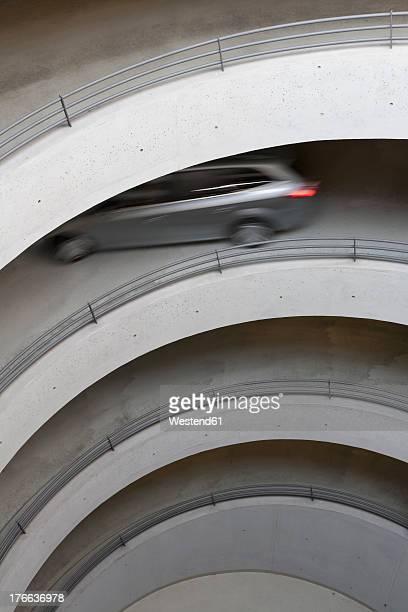 germany, baden wuerttemberg, stuttgart, view of car in car park - etagenparkhaus stock-fotos und bilder