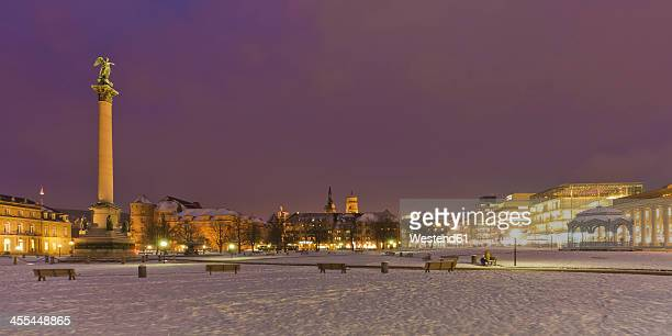 Germany, Baden Wuerttemberg, Stuttgart, View of Kunstmuseum at Palace square