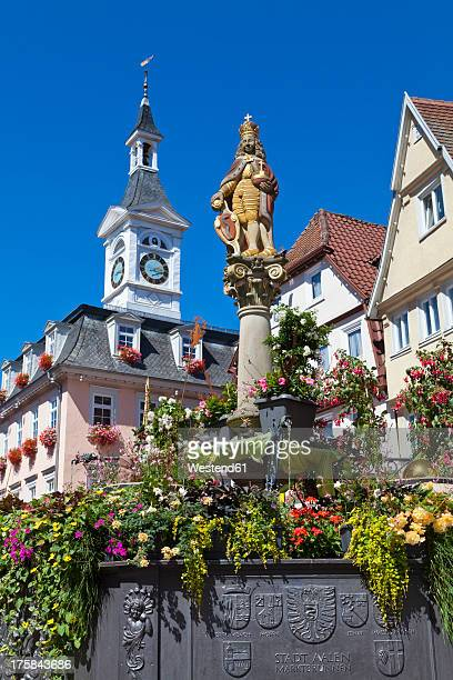Germany, Baden, Wuerttemberg, View of Emperor Joseph Fountain at Aalen