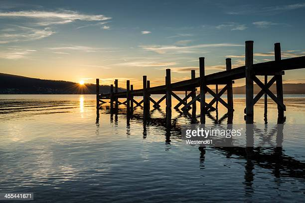 Germany, Baden Wuerttemberg, View of pier at Lake Constance