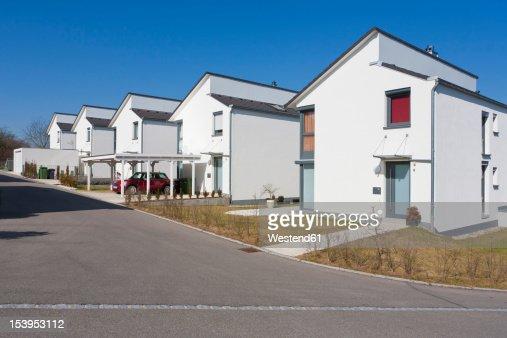 Germany Baden Wurttemberg Aldingen Row Of Modern Detached