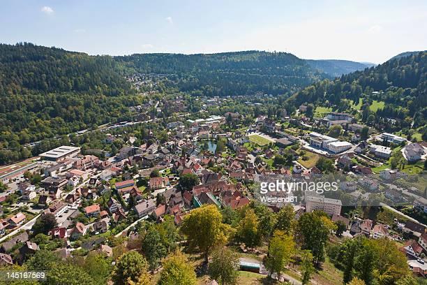 germany, baden wurttemberg, view of bad liebenzell - karlsruhe stock-fotos und bilder