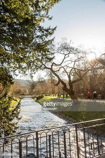 Germany, Baden-Baden, River Oos, Lichtentaler Allee