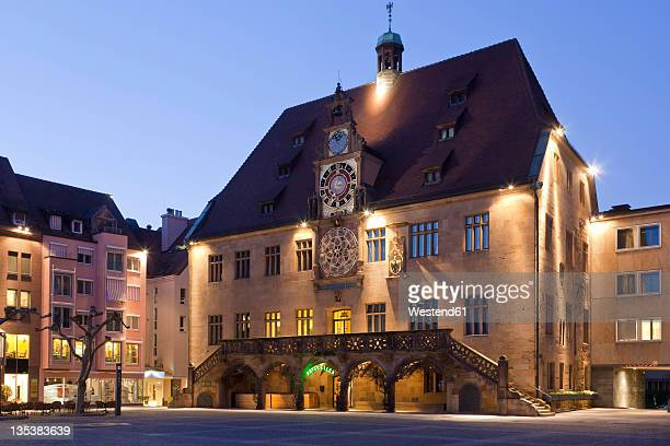 Germany, Baden-Württemberg, Heilbronn, Historical town hall with astronomical clock