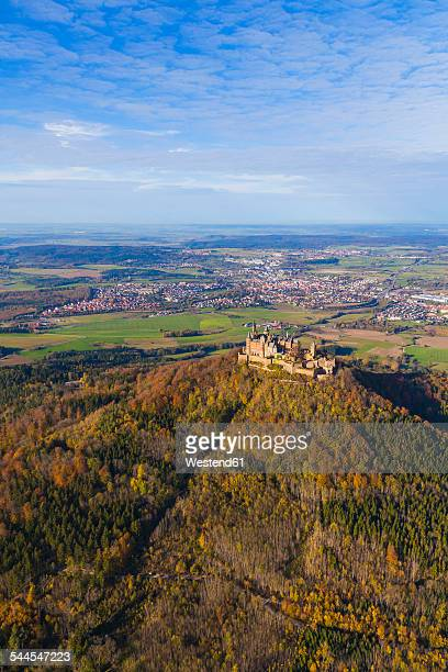 Germany, Baden-Wuerttemberg, aerial view of Hohenzollern Castle