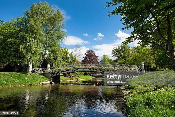 Germany, Baden-Wuerttemberg, Baden-Baden, Jugendstil bridge over River Oos