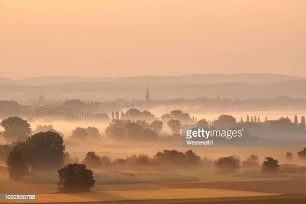 germany, baden-wuerttemberg, constance district, radolfzell, view to radolfzeller aach in the morning with fog - nationalpark stock-fotos und bilder