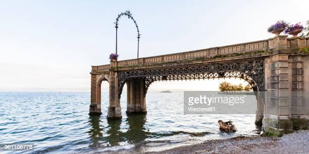 Germany, Baden-Wuerttemberg, Friedrichshafen, Lake Constance, Castle jetty