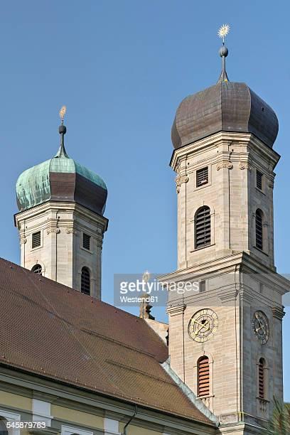Germany, Baden-Wuerttemberg, Friedrichshafen, onion spires of castle church