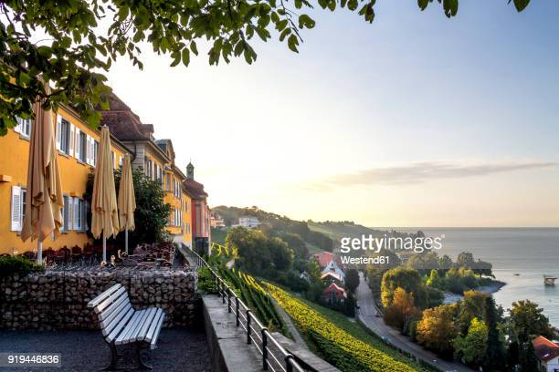 germany, baden-wuerttemberg, lake constance, meersburg, state wine-growing estate in the evening - baden württemberg stock pictures, royalty-free photos & images