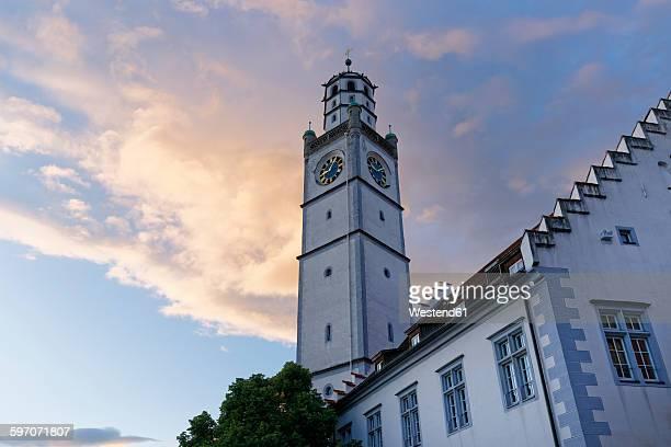 germany, baden-wuerttemberg, ravensburg, blaserturm and weigh house - ravensburg stock-fotos und bilder