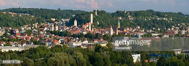 germany, baden-wuerttemberg, ravensburg, town towers in old town - ravensburg stock-fotos und bilder