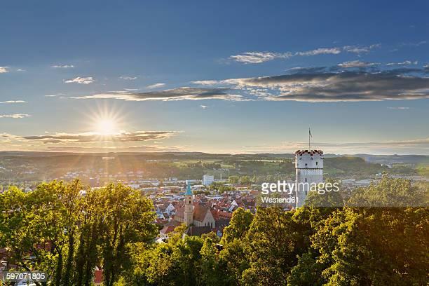 germany, baden-wuerttemberg, ravensburg, townscape with mehlsack as seen from veitsburg - ravensburg stock-fotos und bilder