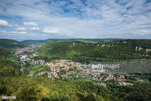 Germany, Baden-Wuerttemberg, Reutlingen, View of Albtrauf, municipality Lichtenstein