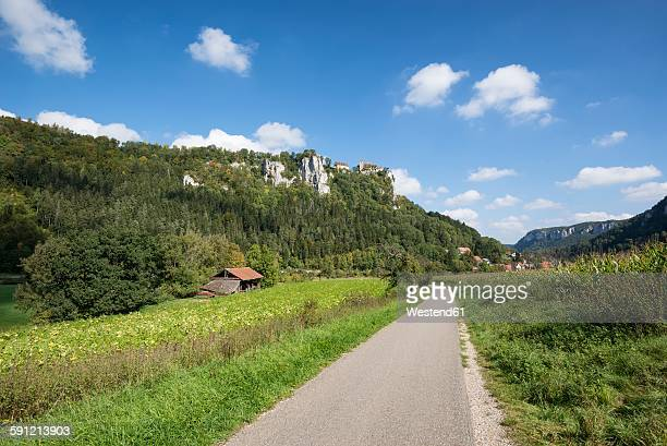 Germany, Baden-Wuerttemberg, Sigmaringen district, Danube bicycle lane at Upper Danube Valley