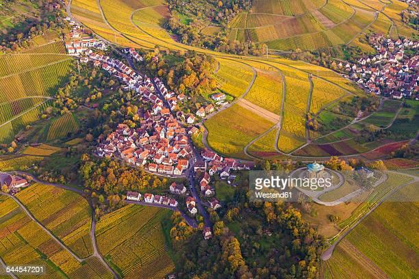 germany, baden-wuerttemberg, stuttgart, aerial view of burial chapel on wuerttemberg - baden württemberg - fotografias e filmes do acervo