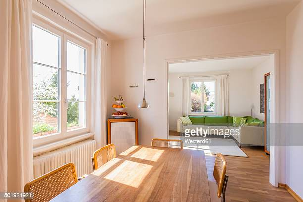 Germany, Baden-Wuerttemberg, Stuttgart, dining room and living room
