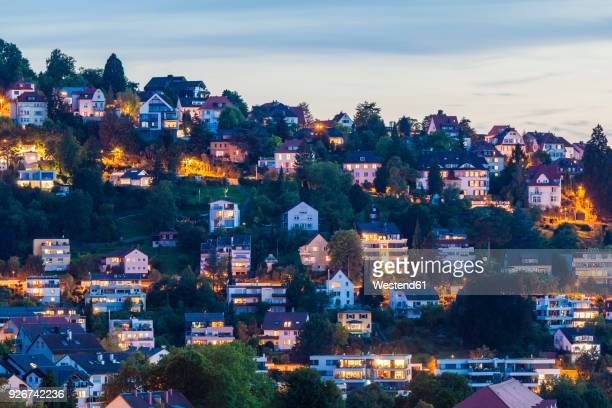 Germany, Baden-Wuerttemberg, Stuttgart, houses at mountainside