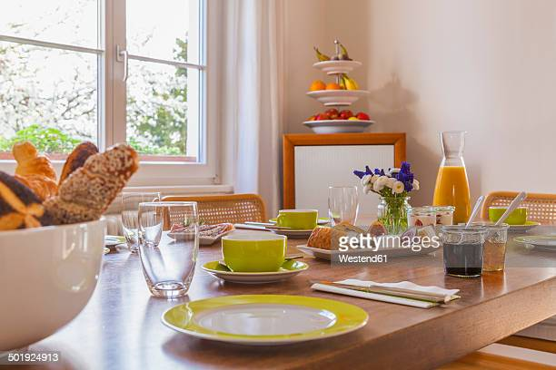 Germany, Baden-Wuerttemberg, Stuttgart, laid breakfast table
