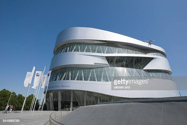 Germany BadenWuerttemberg Stuttgart 'Mercedes Benz Museum' contains exhibits of the car producer Mercedes Benz