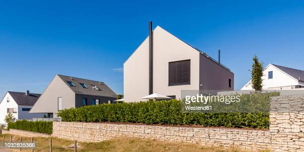 Germany, Baden-Wuerttemberg, Stuttgart, Ostfildern, modern efficiency villas, thermal insulation