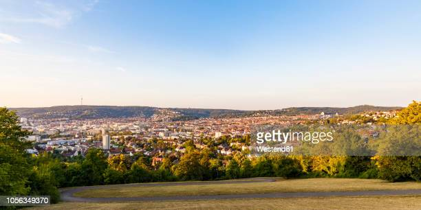 germany, baden-wuerttemberg, stuttgart, view from gaehkopf, panoramic view - stuttgart stock pictures, royalty-free photos & images