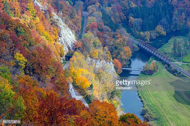 Germany, Baden-Wuerttemberg, Swabian Alb, Upper Danube Valley in autumn, Upper Danube Nature Park