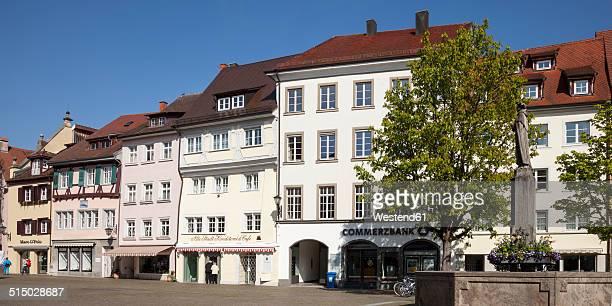 Germany, Baden-Wuerttemberg, Ueberlingen, Hofstatt square with fountain