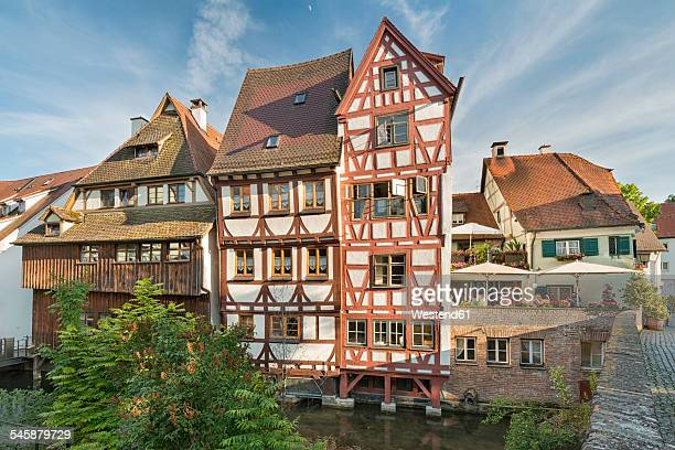 germany, baden-wuerttemberg, ulm, half-timbered houses at river blau - ulm stock pictures, royalty-free photos & images