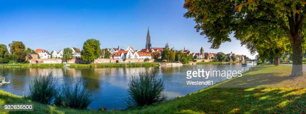 germany, baden-wuerttemberg, ulm, ulm minster and danube river - ulm stock pictures, royalty-free photos & images