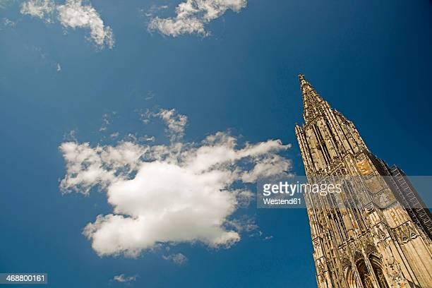 germany, baden-wuerttemberg, ulm, ulmer minster church and sky - ulm stock pictures, royalty-free photos & images