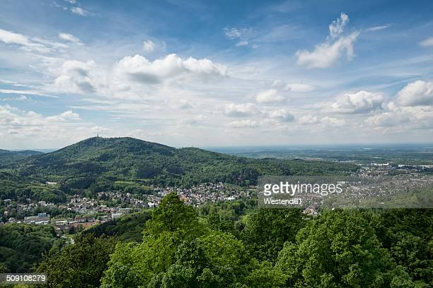 Germany, Baden-Wuerttemberg, View from Hohenbaden Castle to Baden-Baden