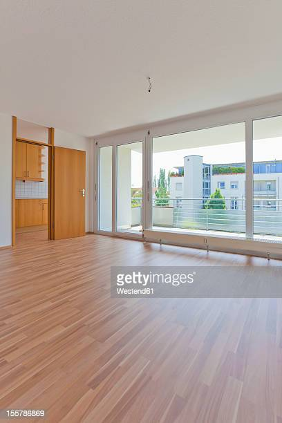 Germany, Baden-Wuerttemberg, View of living room with balcony