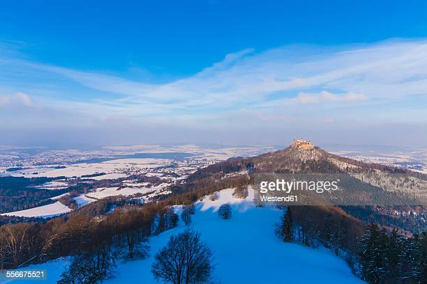 Germany, Baden-Wuerttemberg, View to Hohenzollern Castle in winter