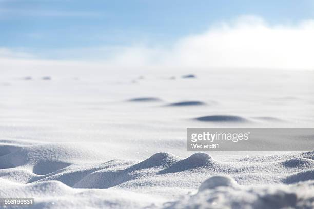 Germany, Baden-Wuerttemberg, Waldshut-Tiengen, snow in sunlight