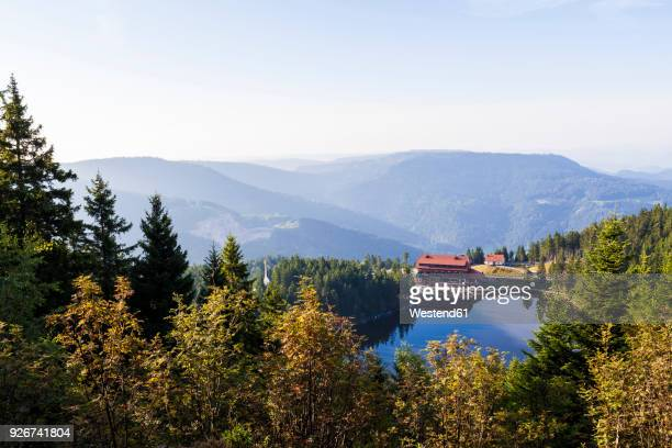 Germany, Baden-Wurttemberg, Black Forest, Hotel at Lake Mummelsee