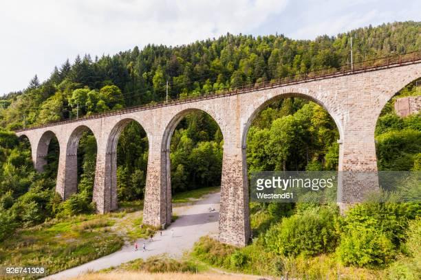 Germany, Baden-Wurttemberg, Black Forest, Ravenna Bridge, Hollentalbahn Viaduct