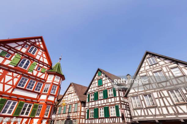 Germany, Baden-Wurttemberg, Black Forest, Schiltach, Half-timbered houses in the old town