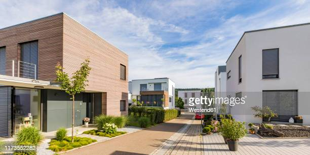 germany, baden-wurttemberg, esslingen, new energy efficient residential houses - community building stock pictures, royalty-free photos & images