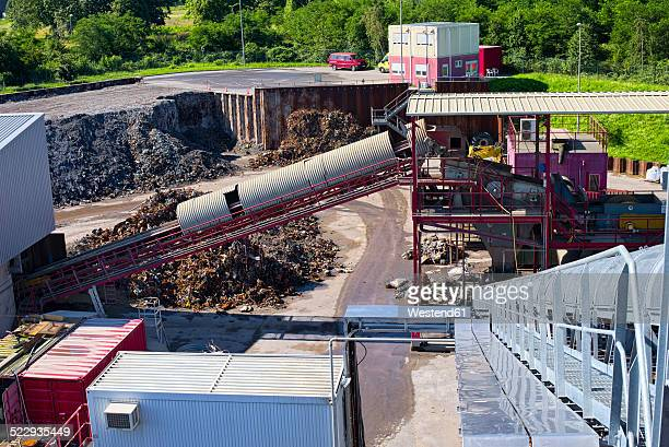 germany, baden-wurttemberg, incinerator trea breisgau, roofed conveyor and sorter - incinerator stock photos and pictures