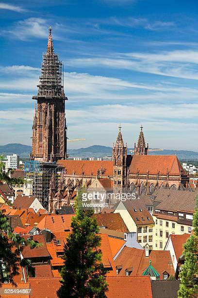 Germany, Baden-Wurttenberg, Freiburg, View of minster