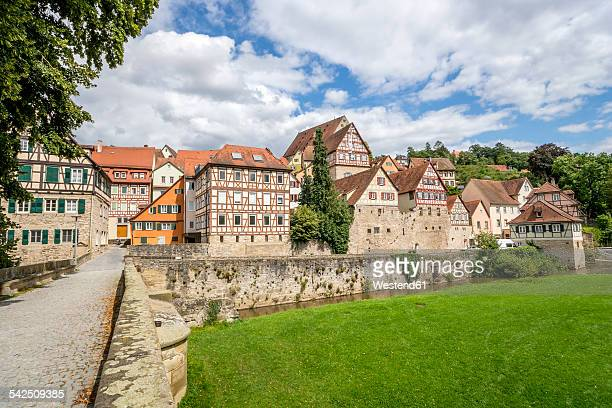Germany, Baden-Wurtttemberg, Schwabisch Hall, Half timbered house at old town