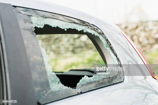 Germany, Bavaria, Accident damaged car