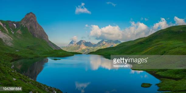 Germany, Bavaria, Allgaeu, Allgaeu Alps, Panoramic view of Lake Rappensee, Small Rappenkopf