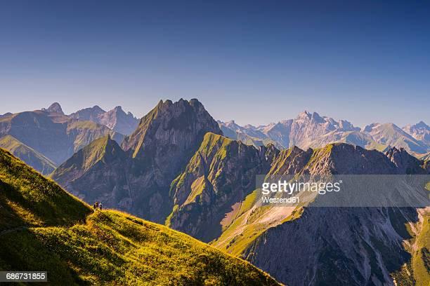 Germany, Bavaria, Allgaeu Alps, high route from Nebelhorn to Oy Valley