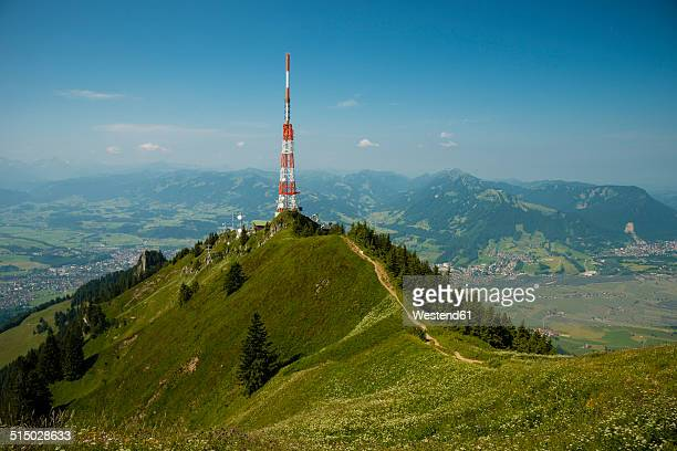 Germany, Bavaria, Allgaeu, Gruenten, Communication Tower Bavarian Broadcasting