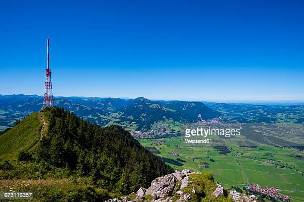 Germany, Bavaria, Allgaeu, Gruenten, Communication Tower Bavarian Broadcasting